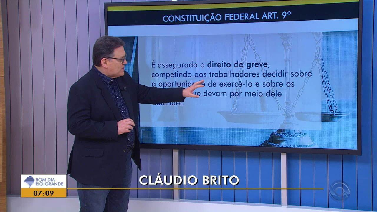Cláudio Brito fala sobre as paralisações no RS desta sexta-feira (14)