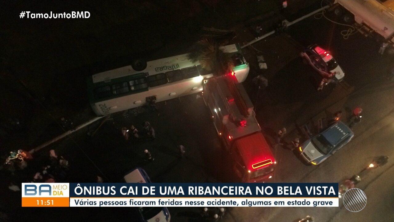 Resultado de imagem para 'Tive uma segunda chance', diz passageira que sobreviveu a grave acidente de ônibus com 27 feridos em Salvador