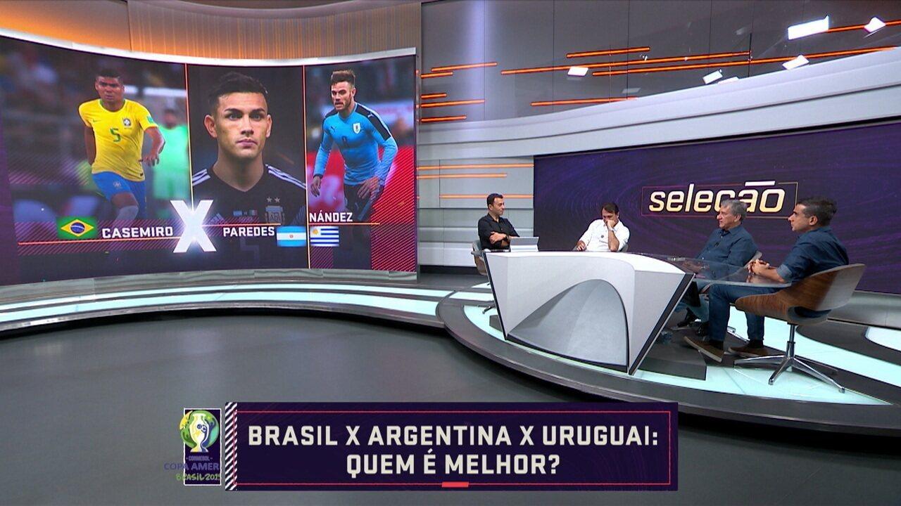 """Parreira, Petkovic e Villani votaram no """"Quem é melhor"""" de Brasil, Argentina e Uruguai"""