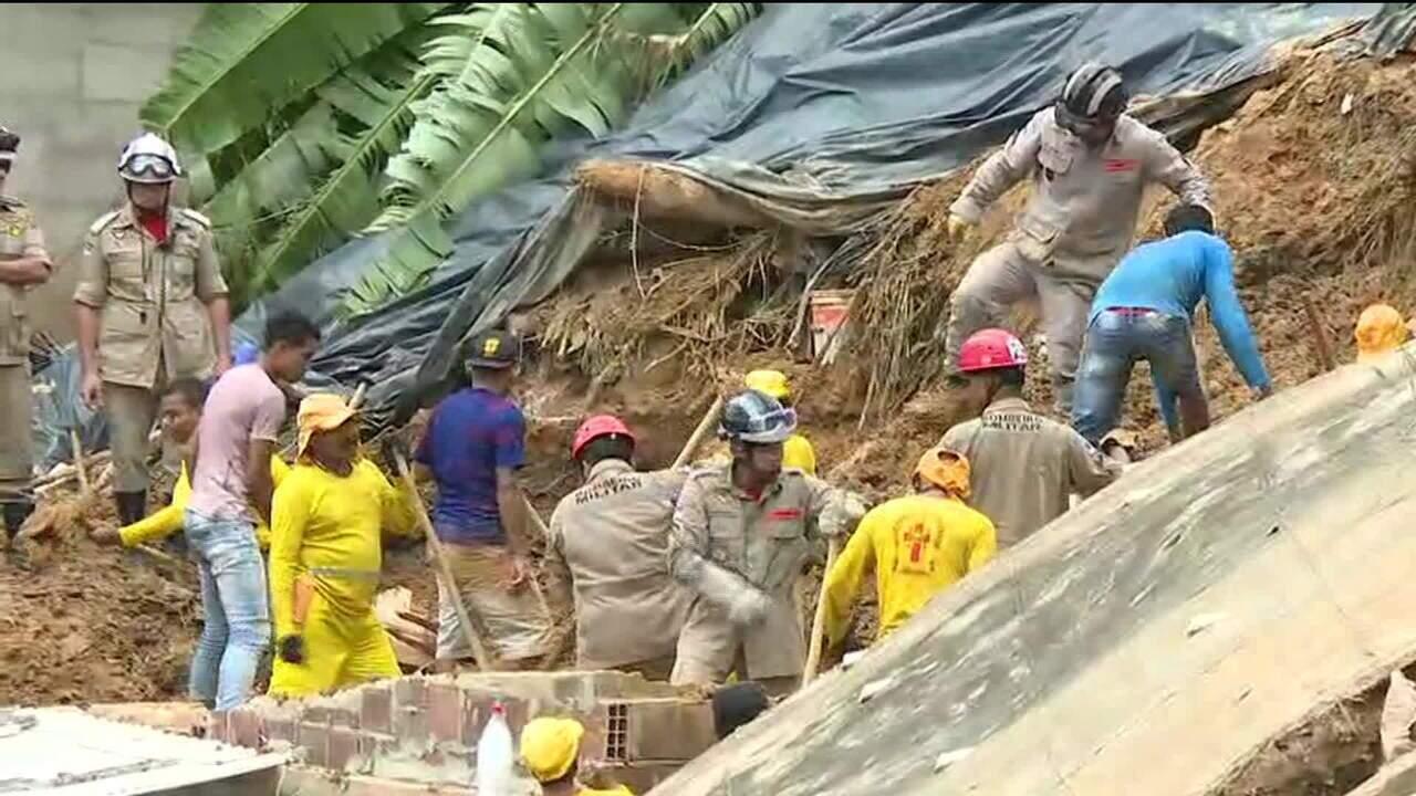 Buscas por crianças soterradas em Camaragibe ultrapassam 40 horas