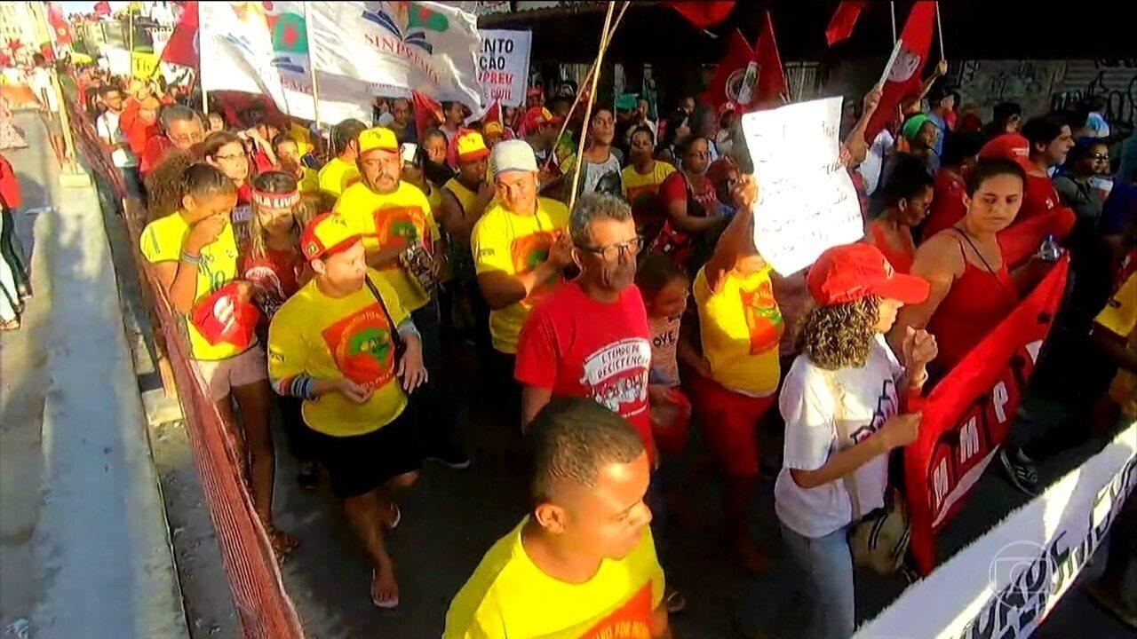 Em 189 cidades dos 26 estados e do DF foram registrados atos em dia de greve e protestos