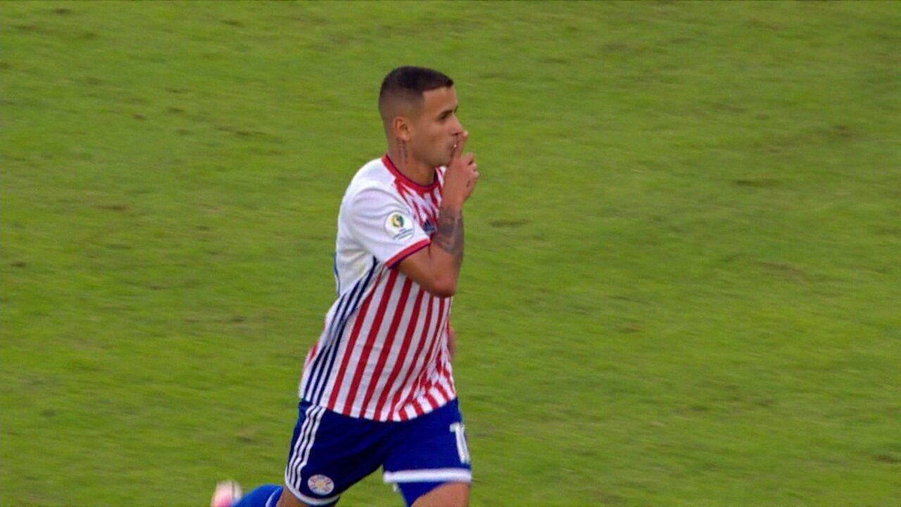 Gol do Paraguai! Derlis González acerto lindo chute e aumenta o placar aos 10 do 2º tempo