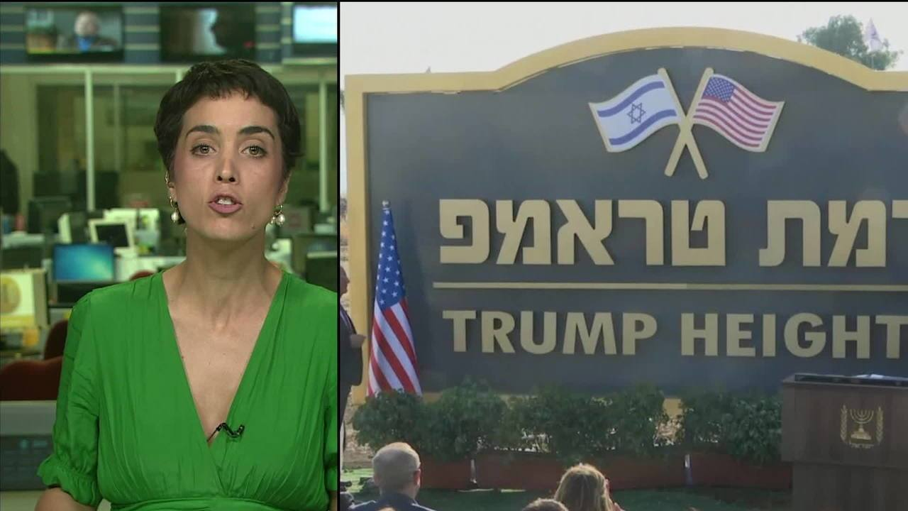 Israel homenageia Donald Trump em novo assentamento em Golã