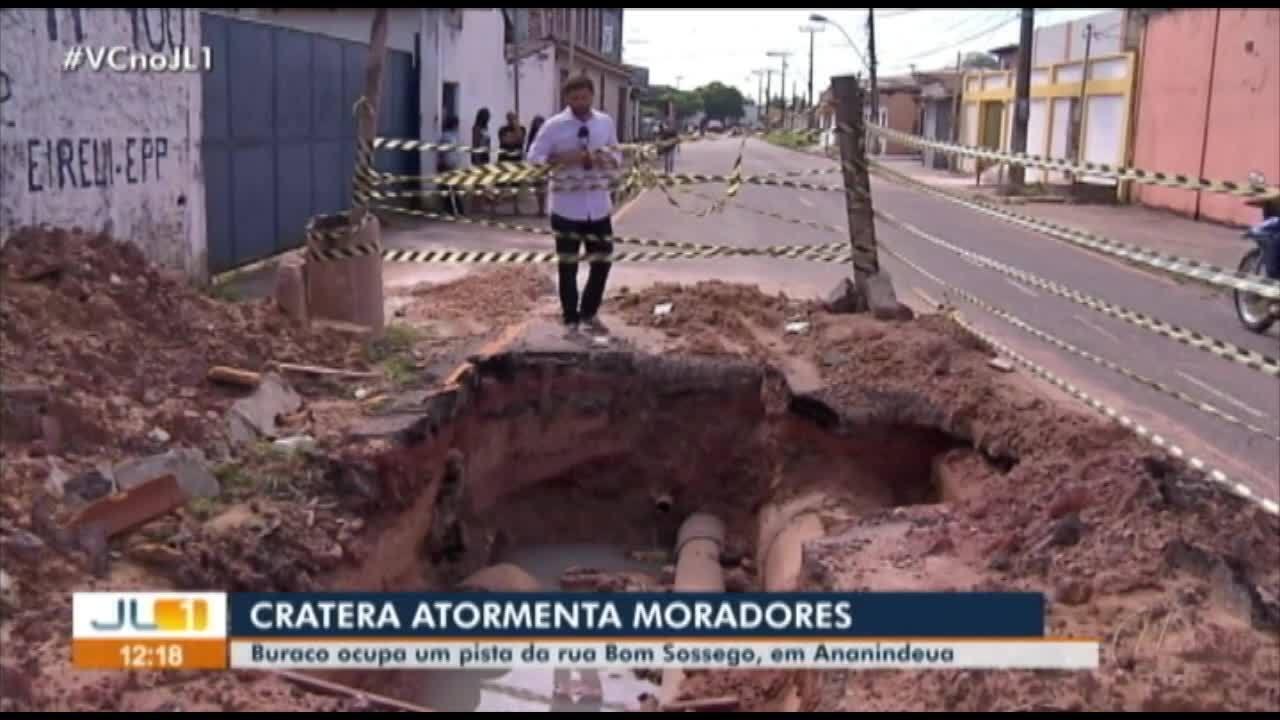 Cratera atormenta moradores em Ananindeua