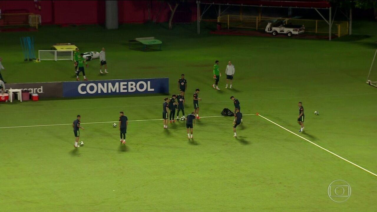 Seleção Brasileira faz último treino antes de enfrentar a Venezuela pela Copa América