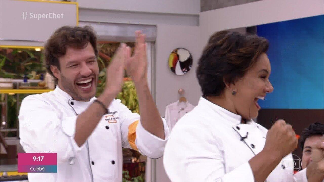 Solange Gomes e Nando Rodrigues ganham a imunidade no 'Super Chef Celebridades 2019'