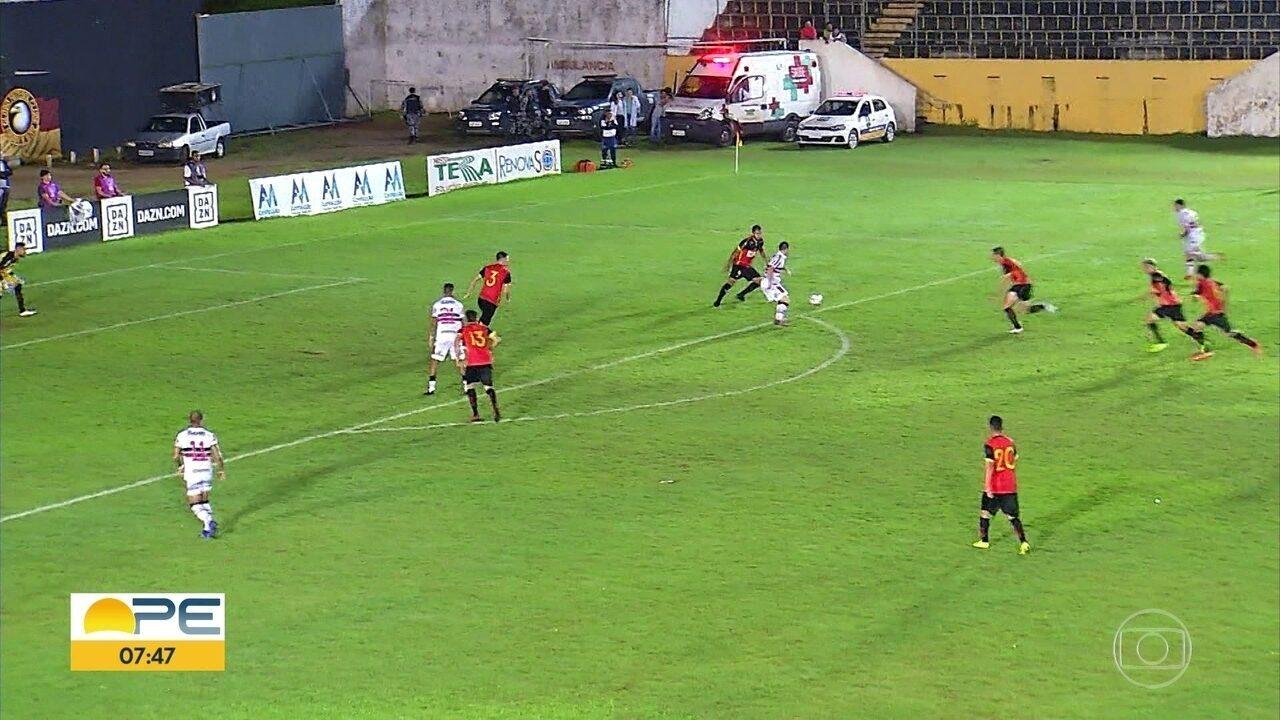 Veja os gols: Santa Cruz empata com Globo-RN, depois de estar perdendo por 3 x 1