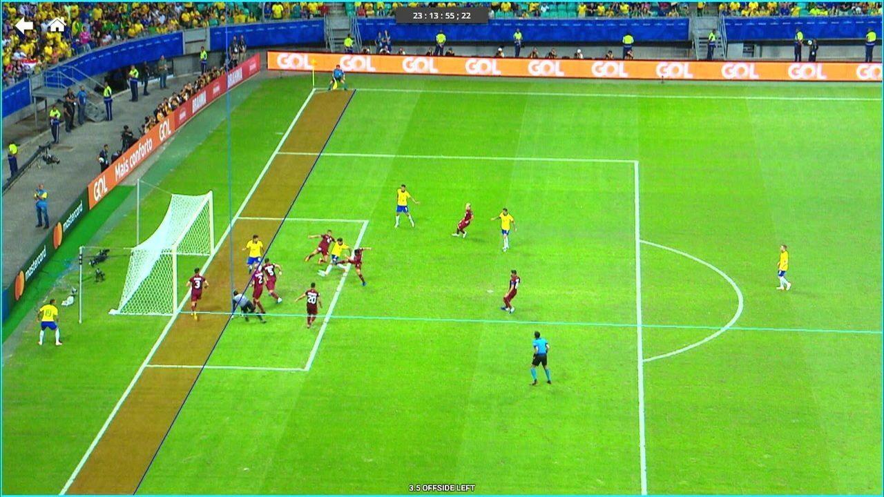 Confira o gol anulado de Philippe Coutinho com a linha de impedimento