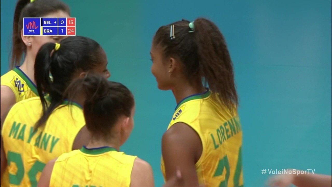 Melhores momentos: Bélgica 0 x 3 Brasil pela Liga das Nações de Vôlei Feminino