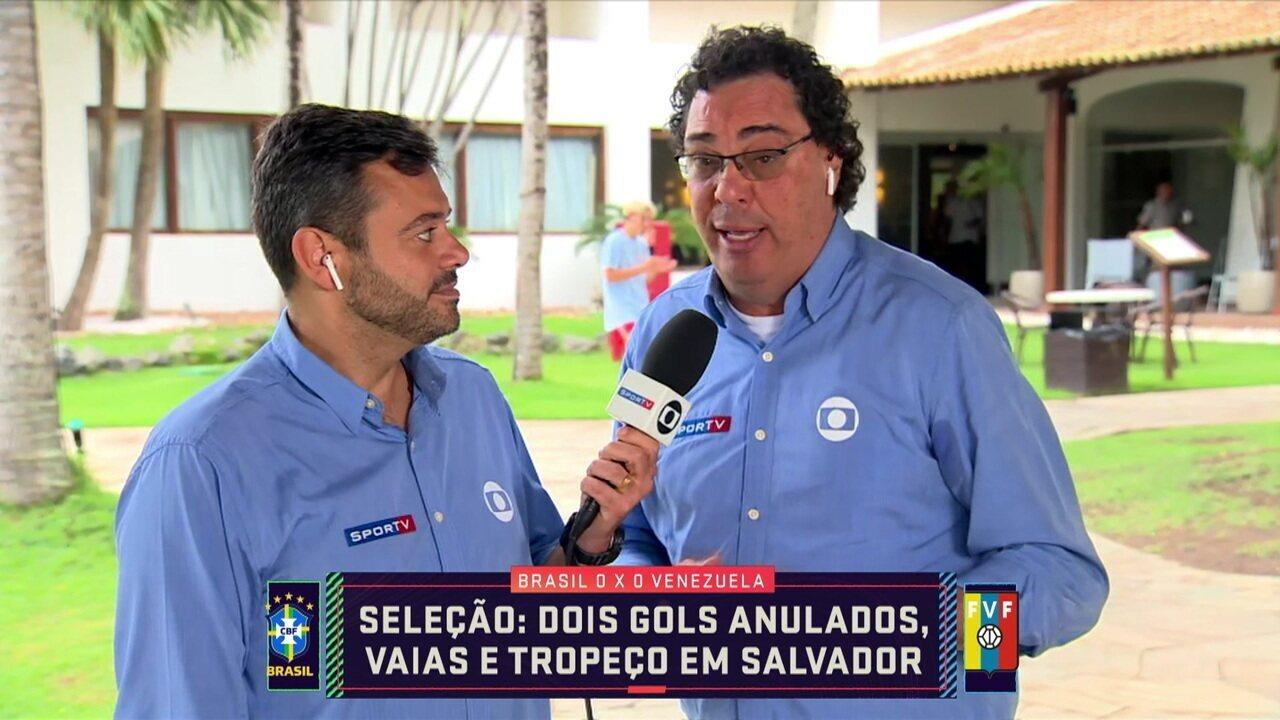 Eric Faria e Casagrande comentam empate da Seleção contra a Venezuela em Salvador