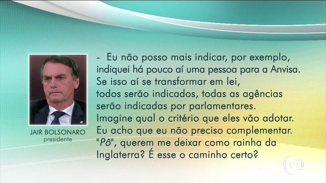 Jair Bolsonaro fala sobre articulação política após realização de exames em Brasília