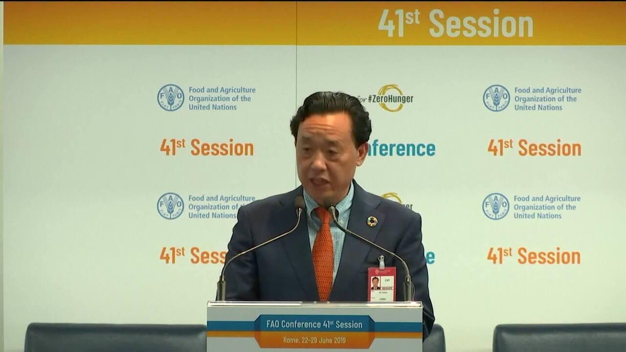 Chinês vai substituir brasileiro na direção da FAO