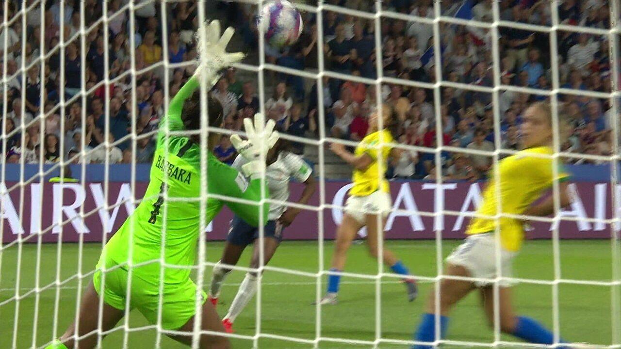 Melhores momentos: França 2 x 1 Brasil pelas oitavas da Copa do Mundo de futebol feminino