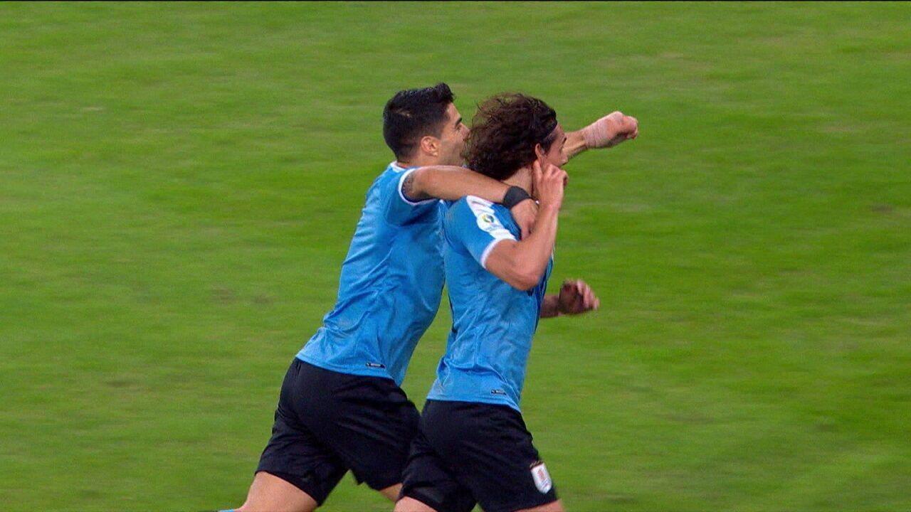 O gol de Chile 0 x 1 Uruguai pela Copa América 2019