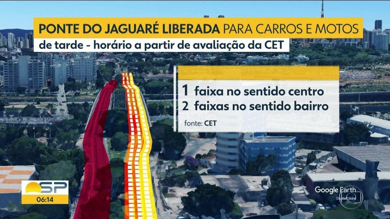 Ponte do jaguaré foi reaberta parcialmente