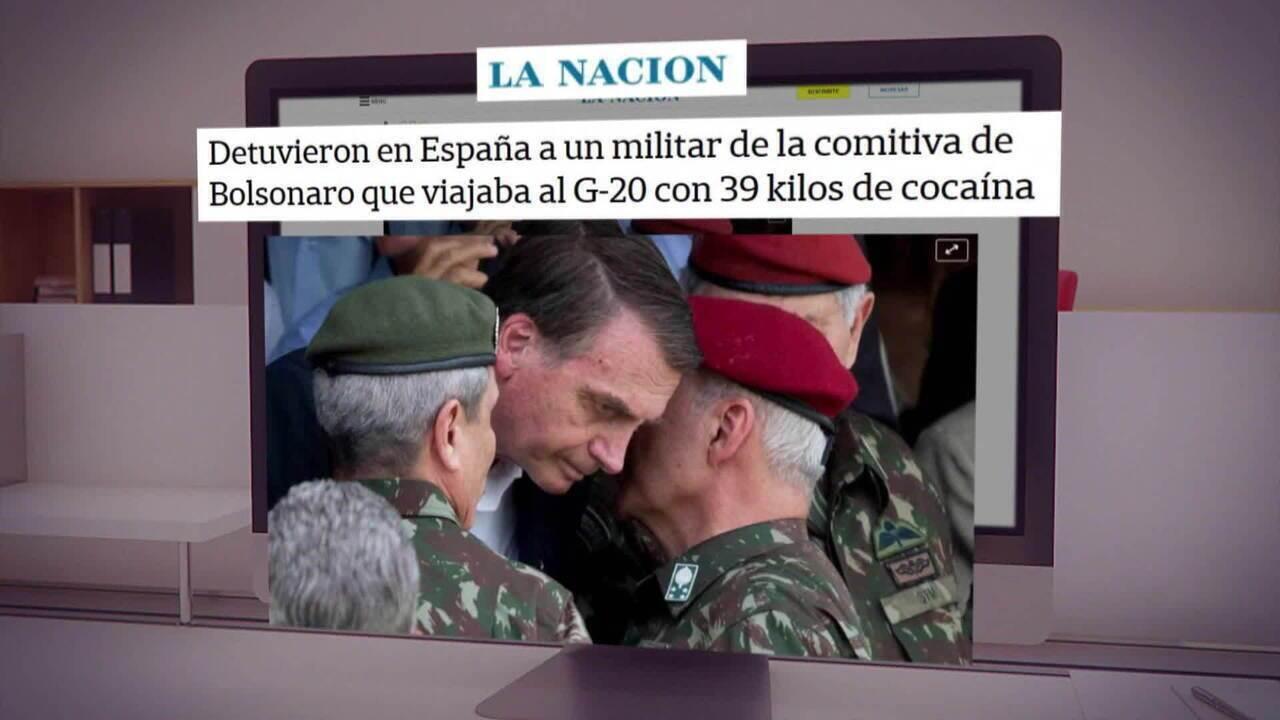 Hamilton Mourão diz que militar preso com cocaína voltaria ao Brasil no avião de Bolsonaro