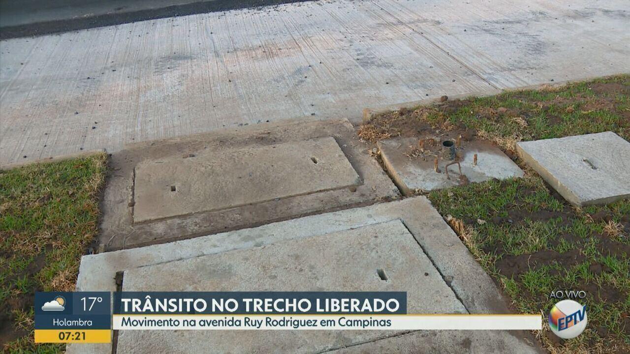 Confira o trecho do BRT liberado da Avenida Ruy Rodriguez em Campinas