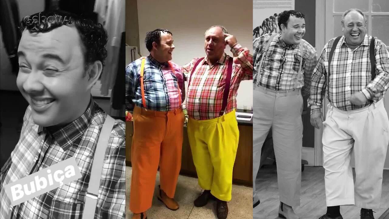 Pedro Bismarck e Gui Santana se encontram nos bastidores da 'Escolinha'