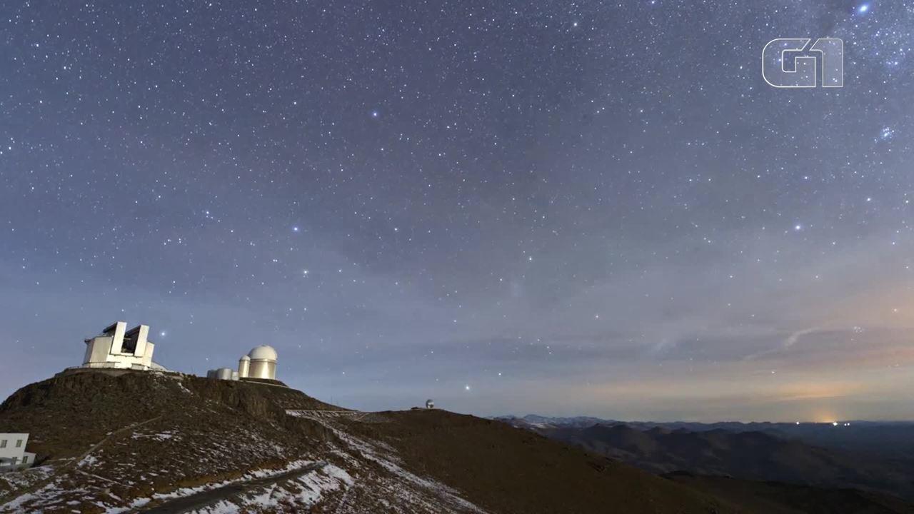 Timelapse mostra o céu do Observatório La Silla, no Chile