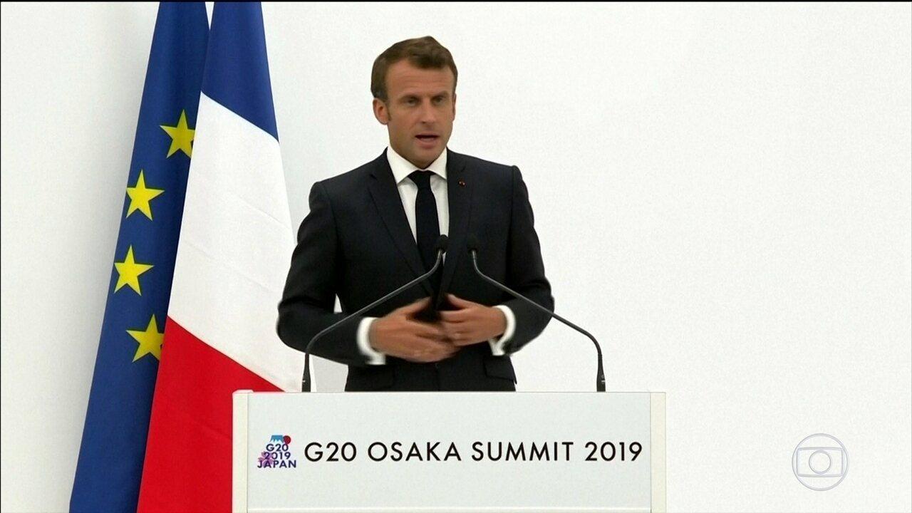 França diz que no momento 'não está pronta' para ratificar acordo com o Mercosul
