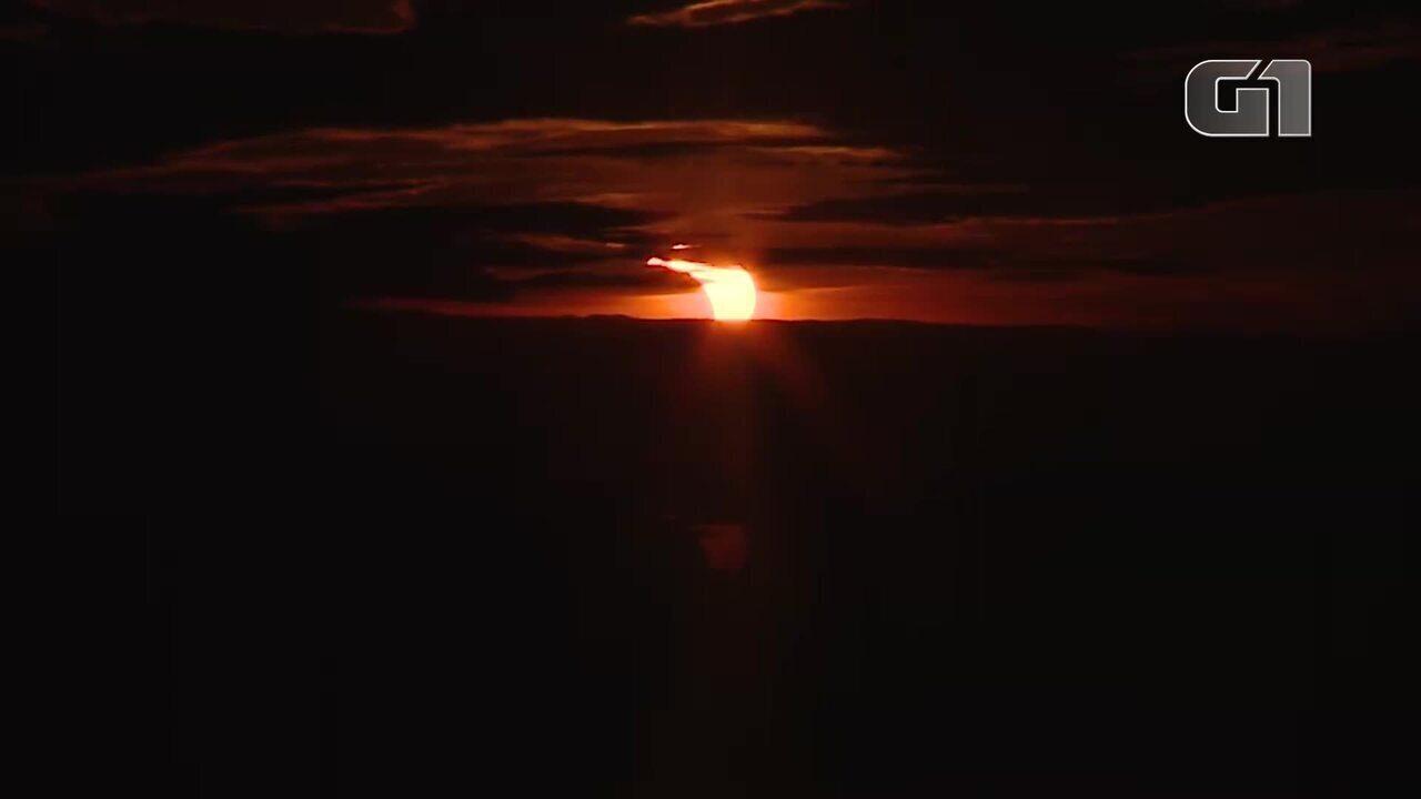 VÍDEO - Veja como foi o eclipse em Porto Alegre