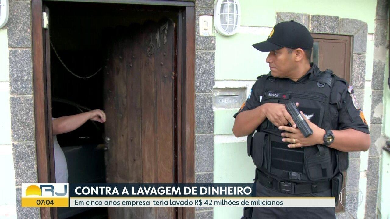 Policia faz operação contra milícia
