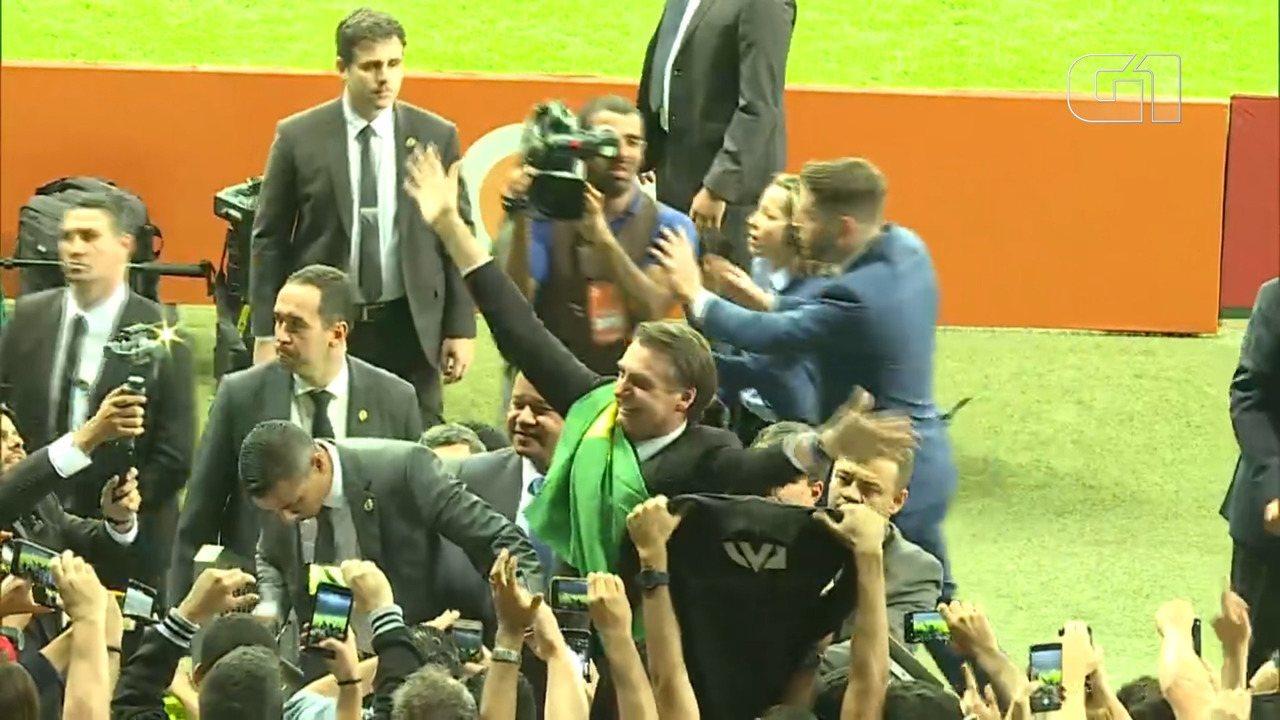 Brasil X Argentina: Bolsonaro é vaiado e aplaudido no Estádio Mineirão, em Belo Horizonte