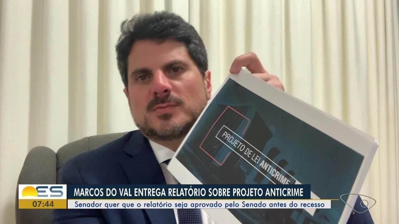 Senador Marcos Do Val entrega relatório sobre projeto anticrime