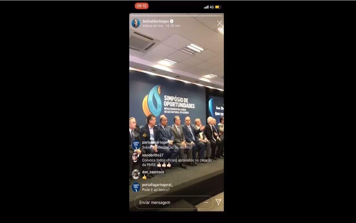 Morte de empresário cancela evento com governador de Sergipe e ministro de Minas e Energia