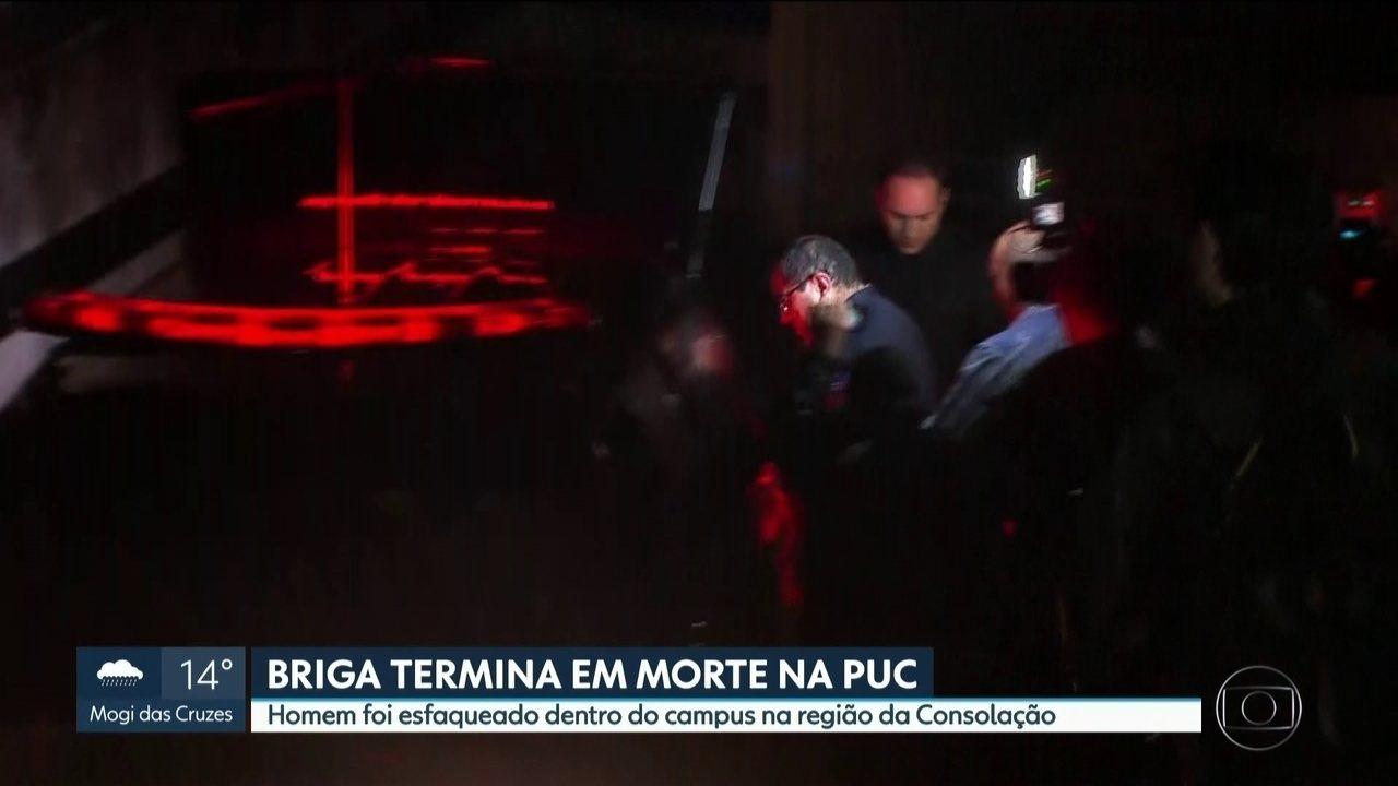 Polícia investiga homicídio dentro do campus da PUC, na região da Consolação