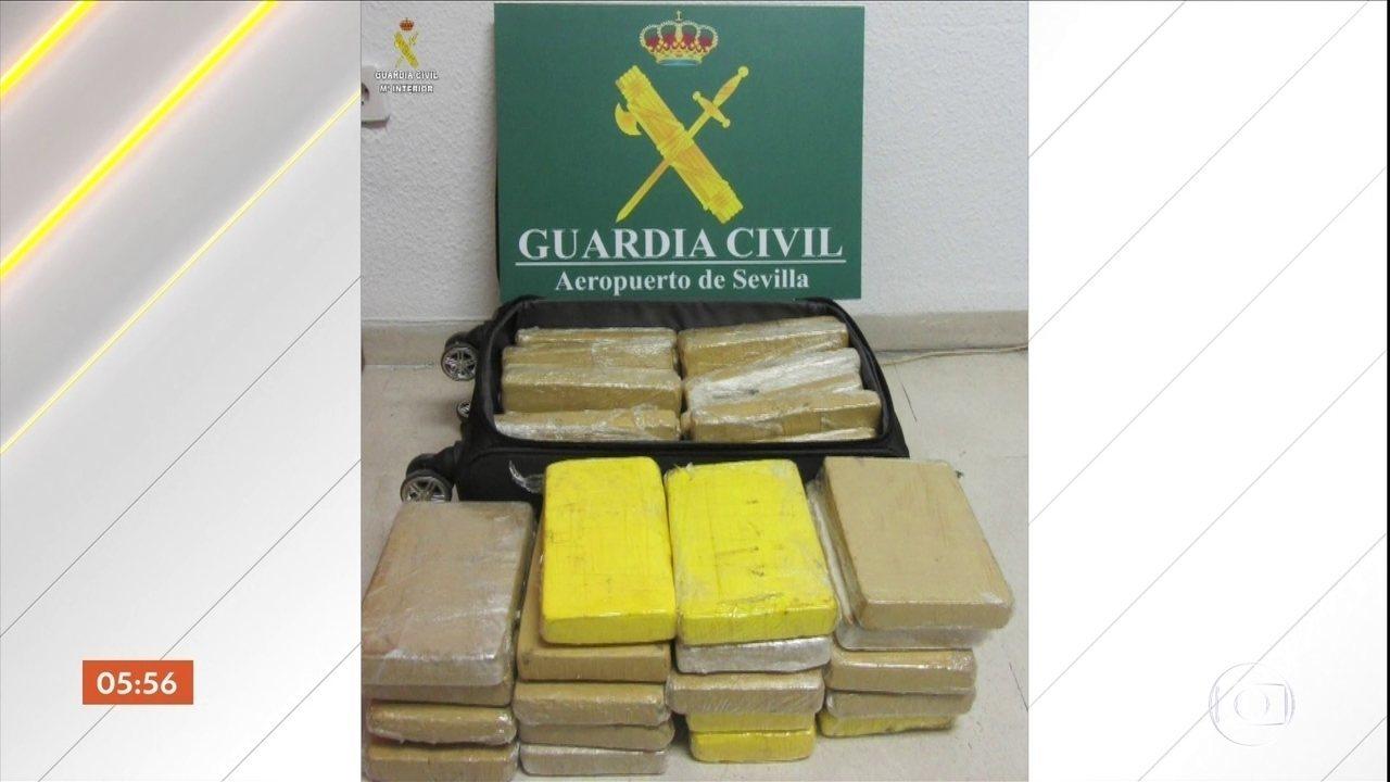 Espanha libera imagens dos 39 kg de cocaína apreendidos com militar brasileiro