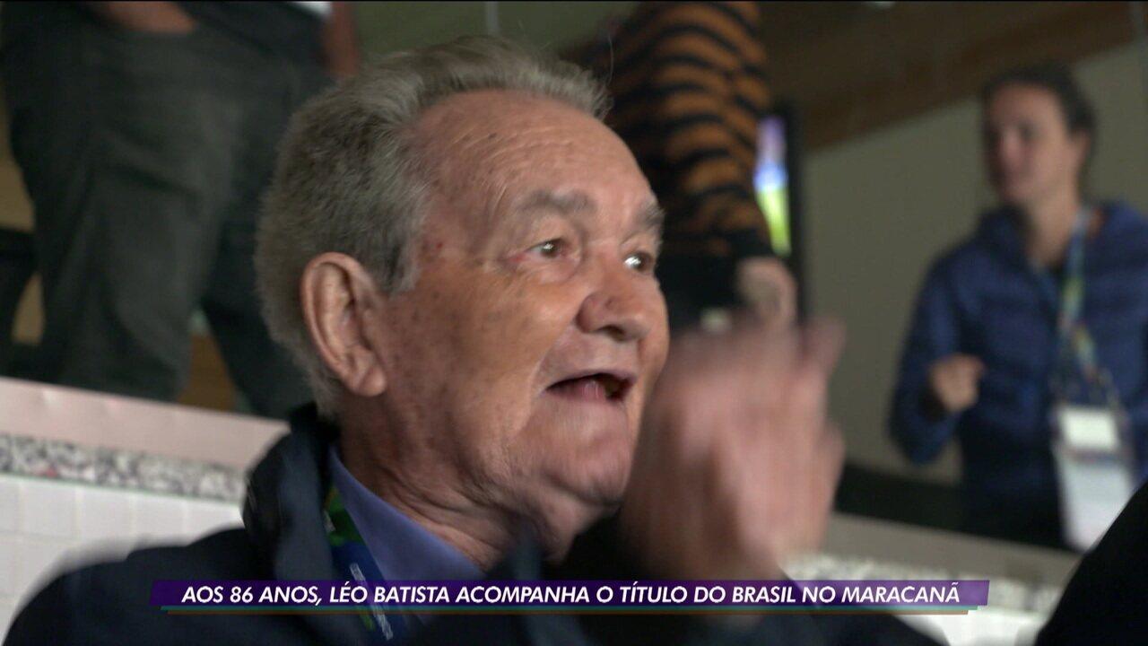 Léo Batista acompanha título da Copa América no Maracanã e apaga fantasma da Copa de 1950