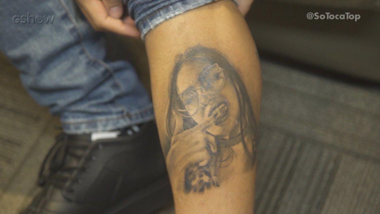 Dynho Alves fala sobre tatuagem da namorada, MC Mirella