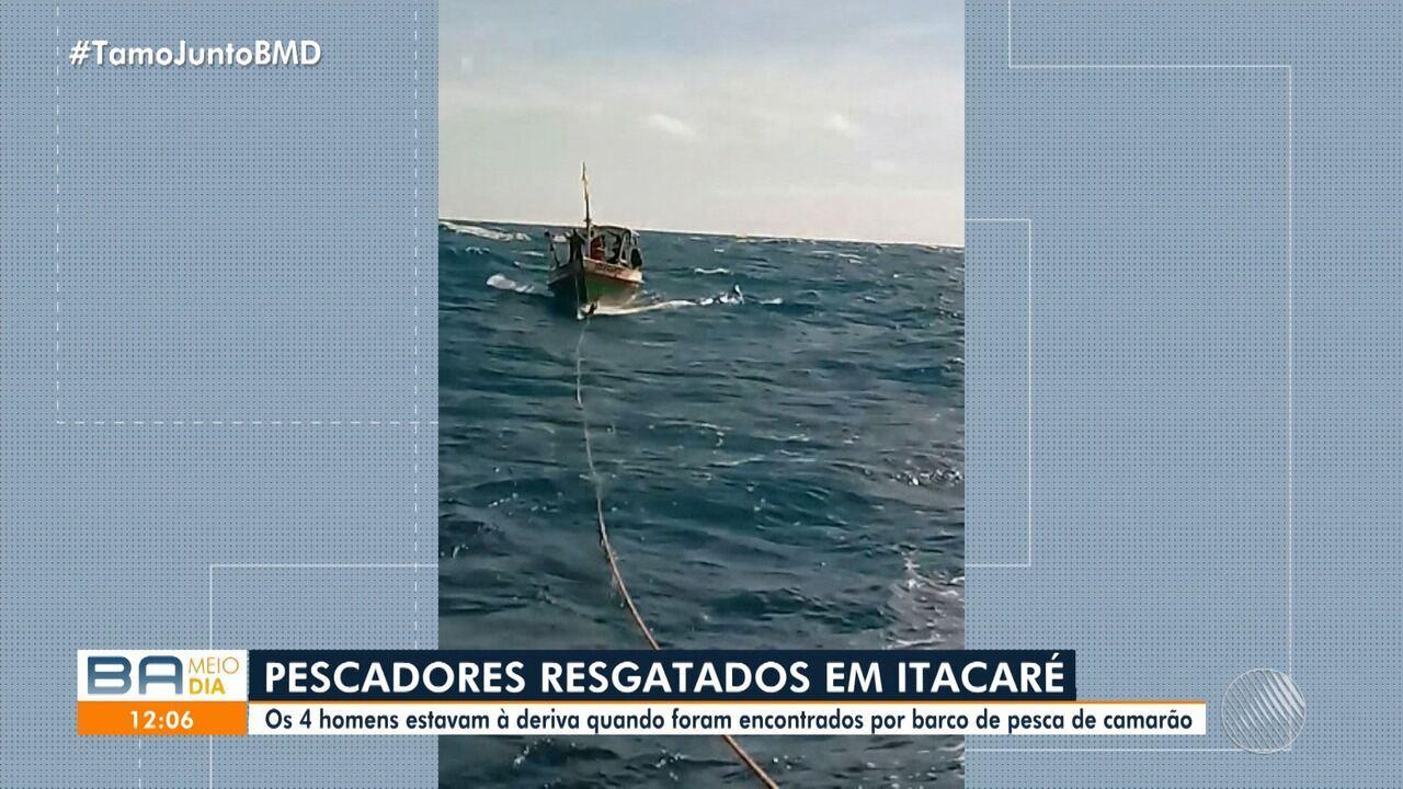 Pescadores de Ilhéus são encontrados à deriva em Itacaré