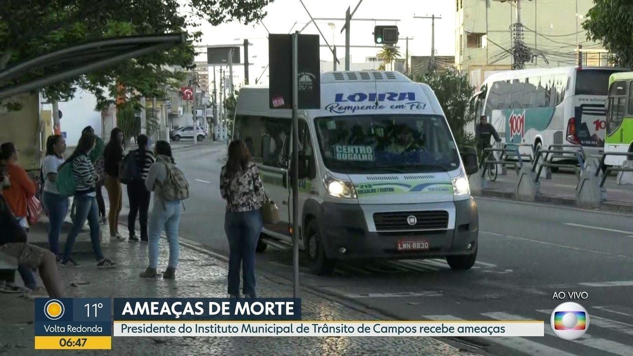 Presidente do IMTT de Campos recebe ameaças de morte