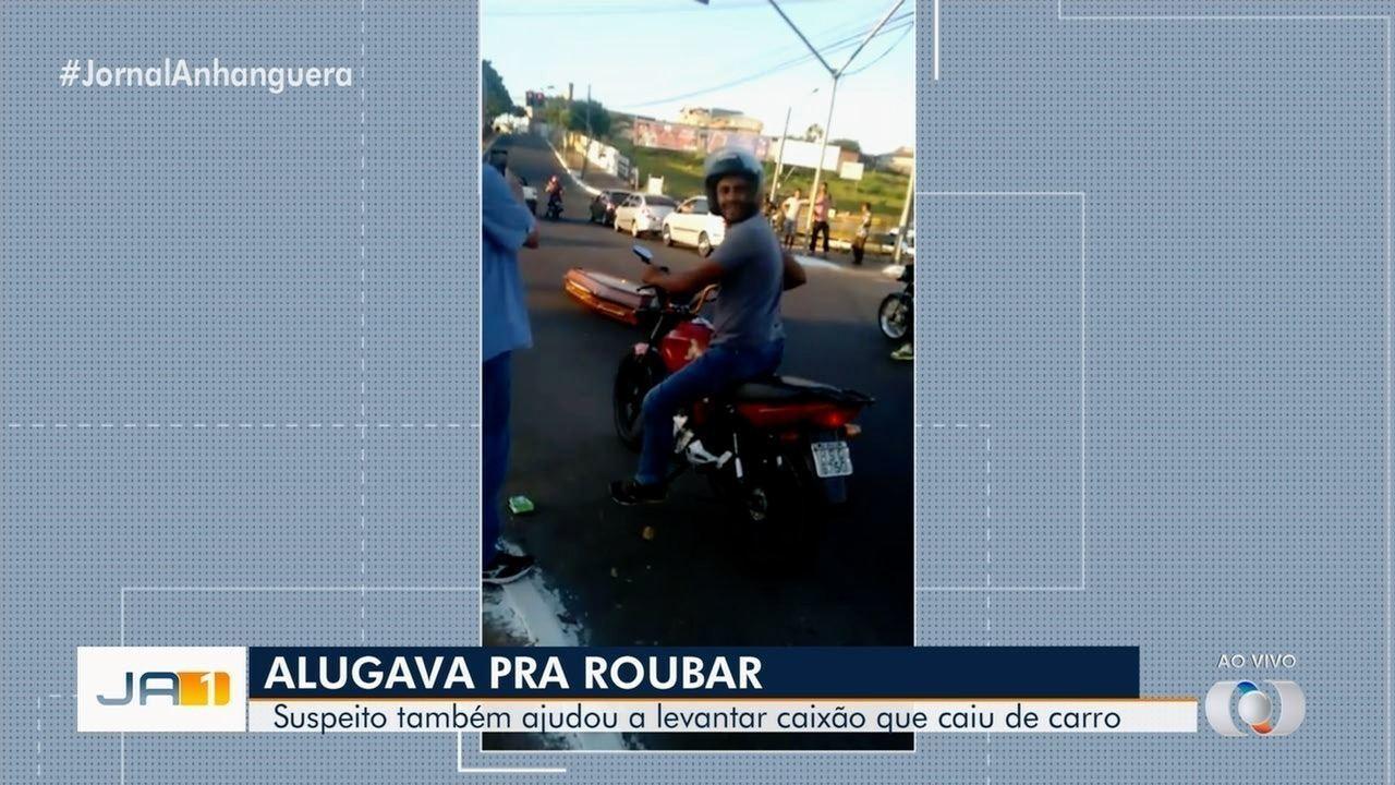 Homem preso por roubo após episódio com caixão volta a ser preso em Goiânia