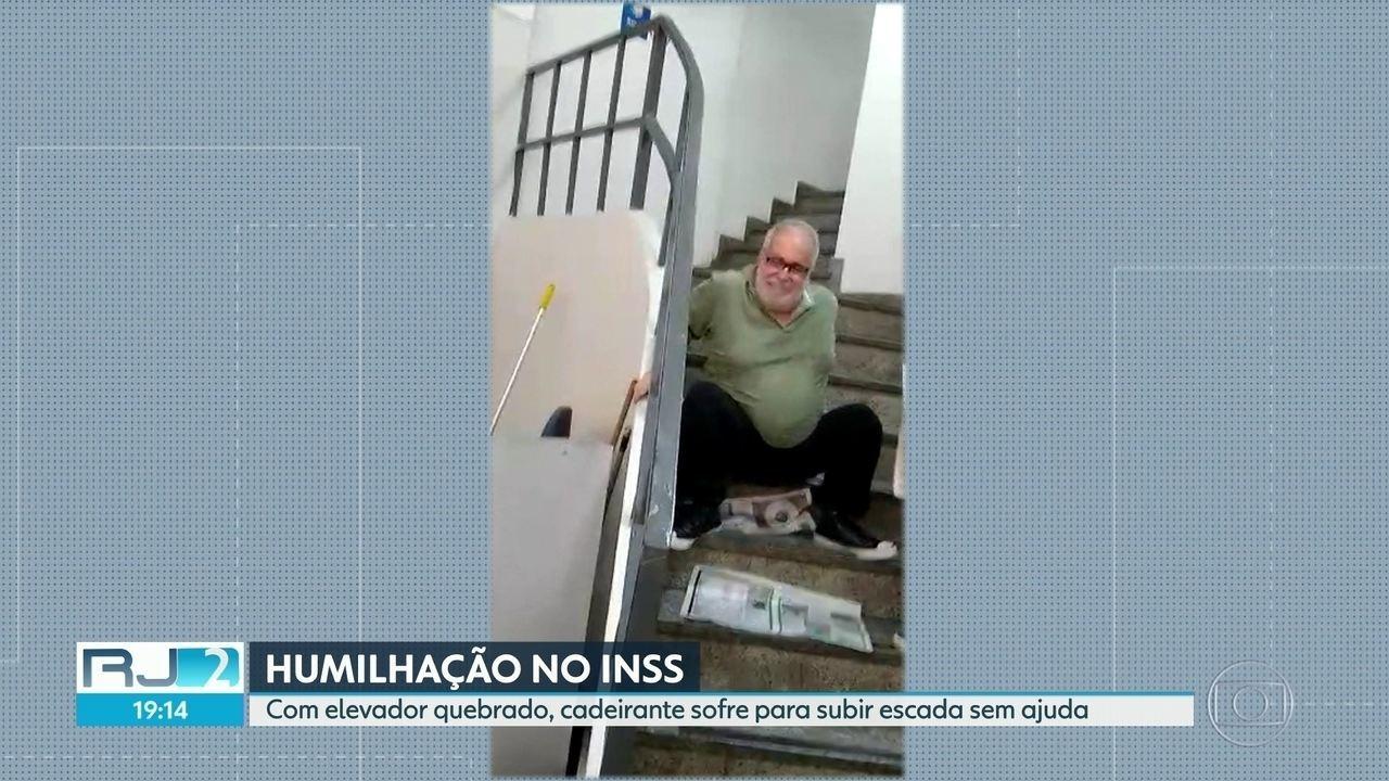 Cadeirante sofre humilhação ao buscar atendimento em agência do INSS no Centro do Rio