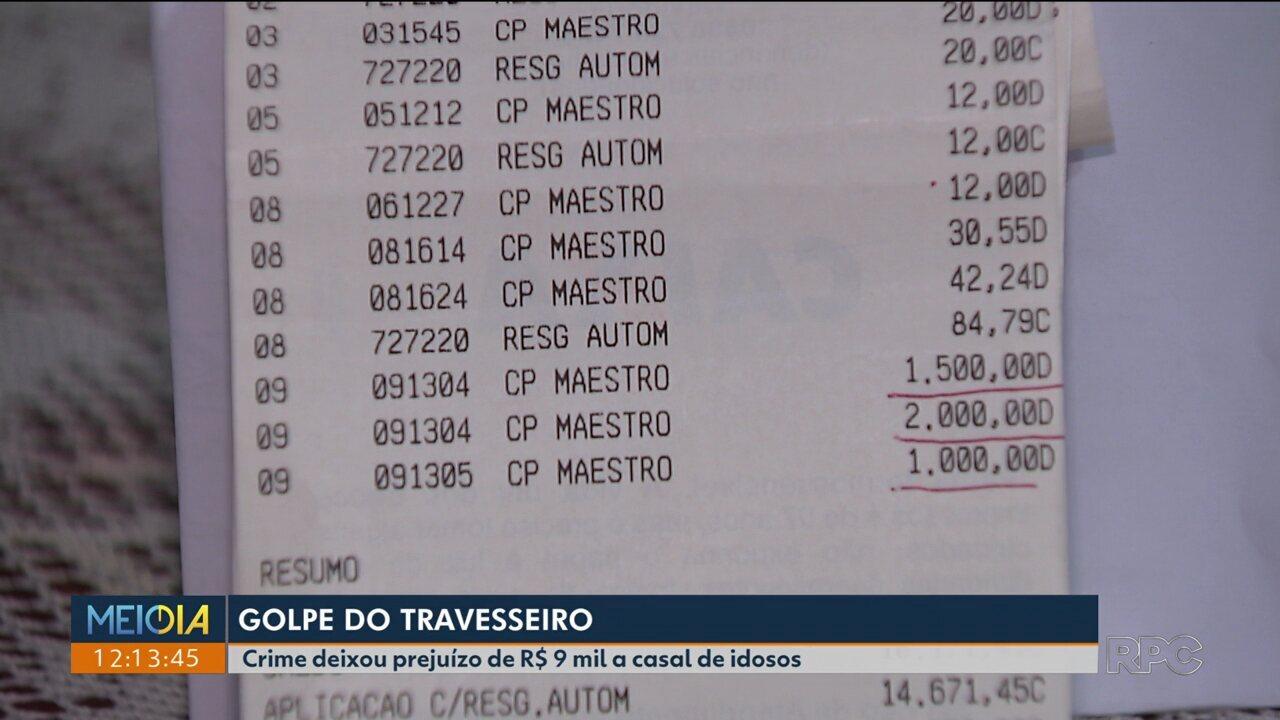 Golpe do travesseiro: crime deixou prejuízo de R$ 9 mil a casal de idosos