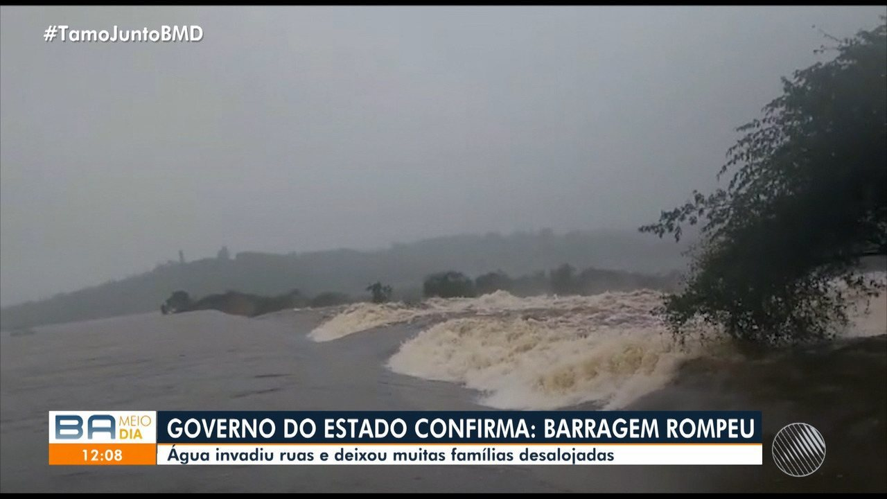 Governo do estado confirma rompimento de barragem; presidente do Crea-Ba comenta o caso