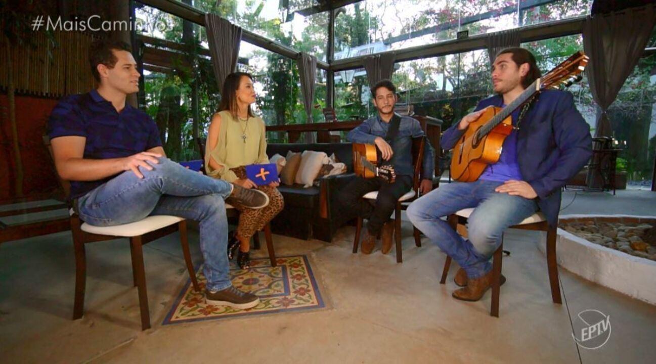 Pedro e Cris receberam o cantor Gabriel Sater