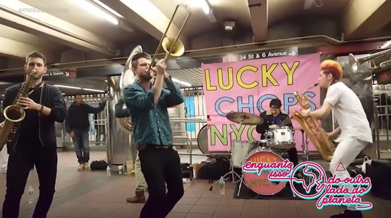 Conheça o grupo musical Lucky Chops, de Nova Iorque, que mistura instrumentos de sopro