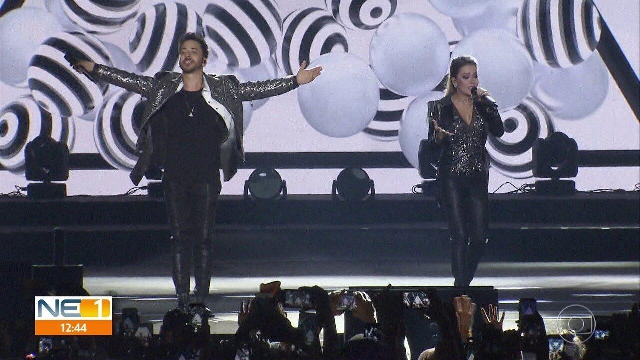 Sandy e Junior estreiam turnê 'Nossa História' com show nostálgico em Pernambuco