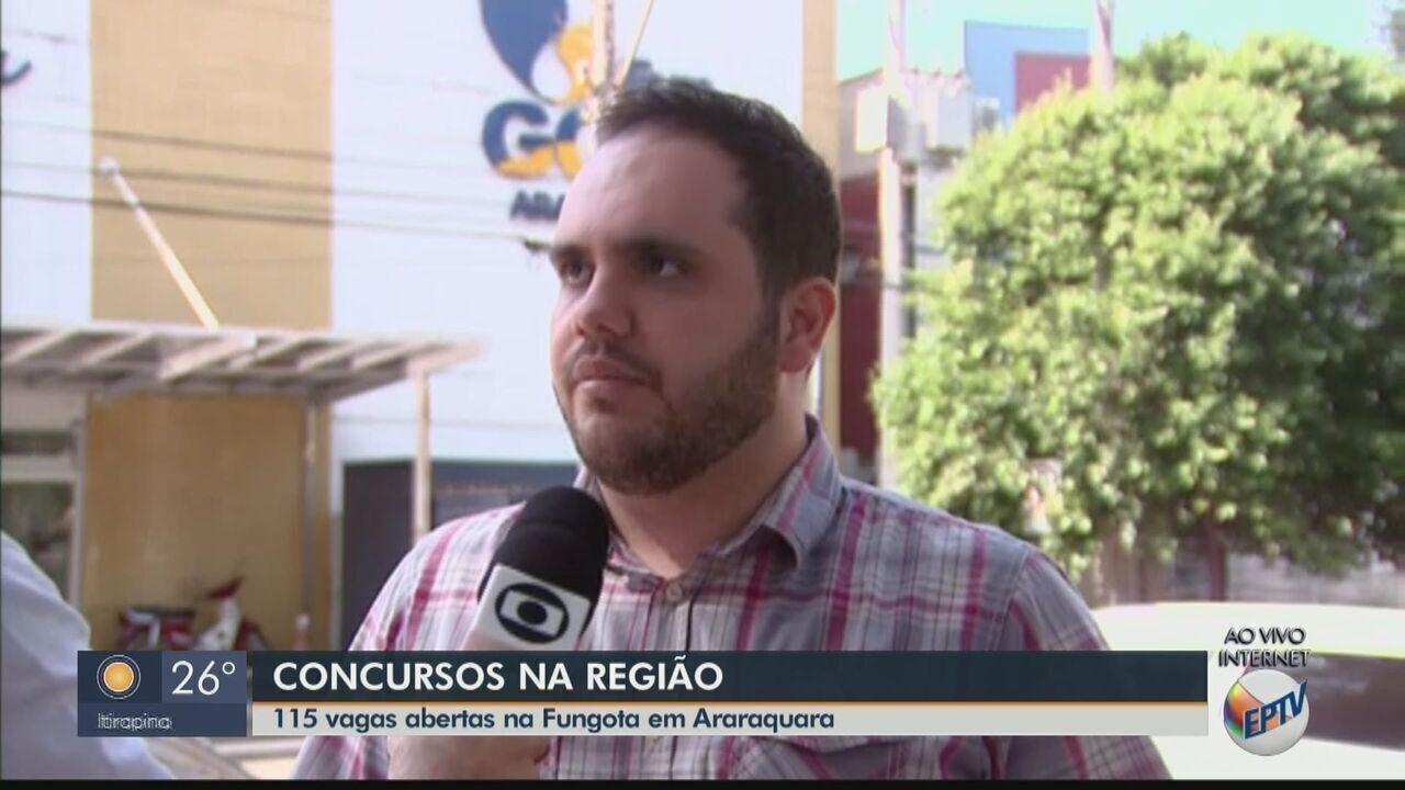 Fungota tem concurso público para 115 vagas em diversas áreas em Araraquara