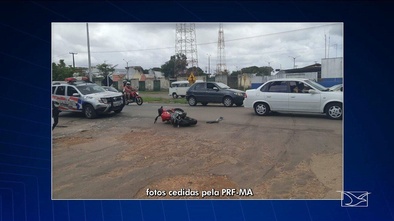 Três acidentes são registrados nesta terça (16) nas rodovias federais do Maranhão
