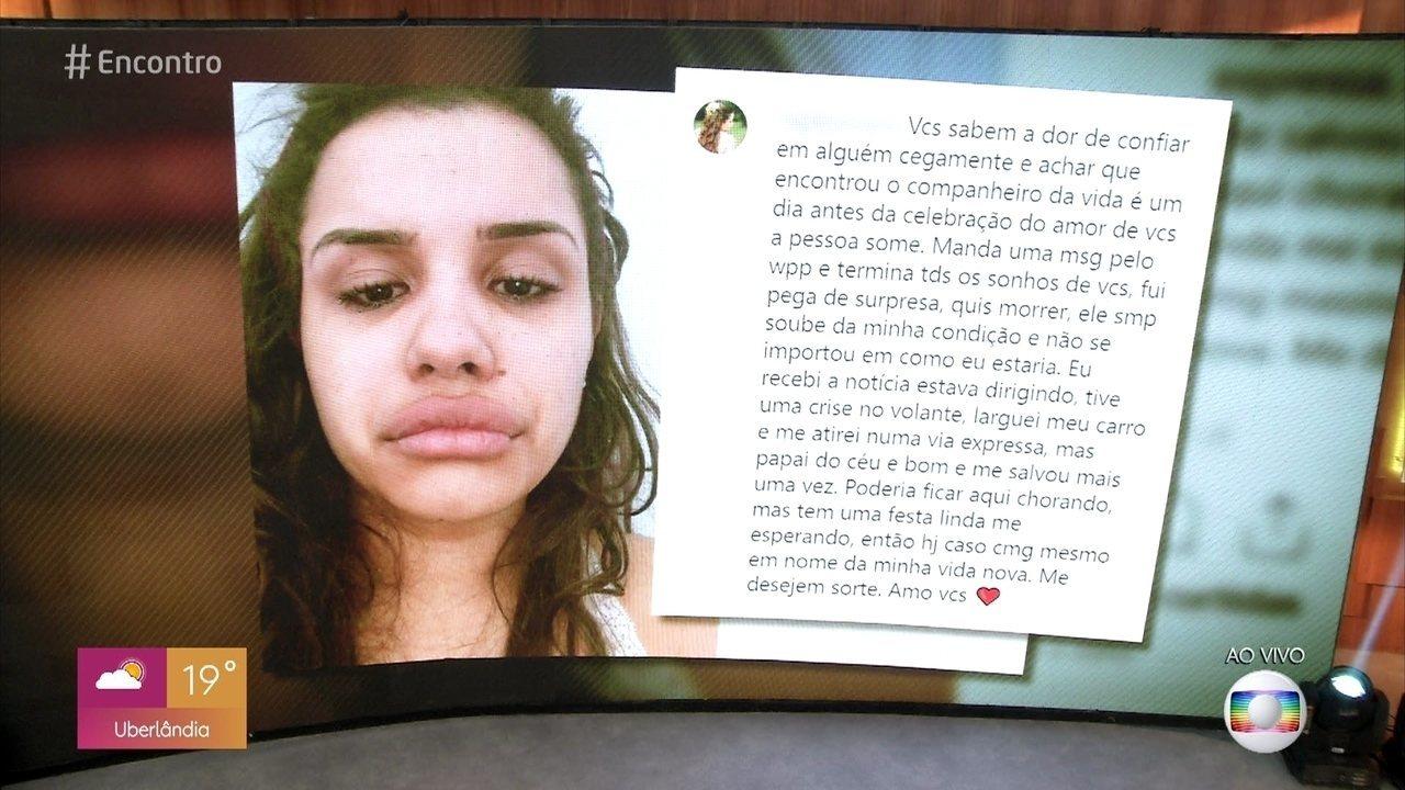 Noivo de Alline Araújo desistiu do casamento um dia antes do suicídio da blogueira
