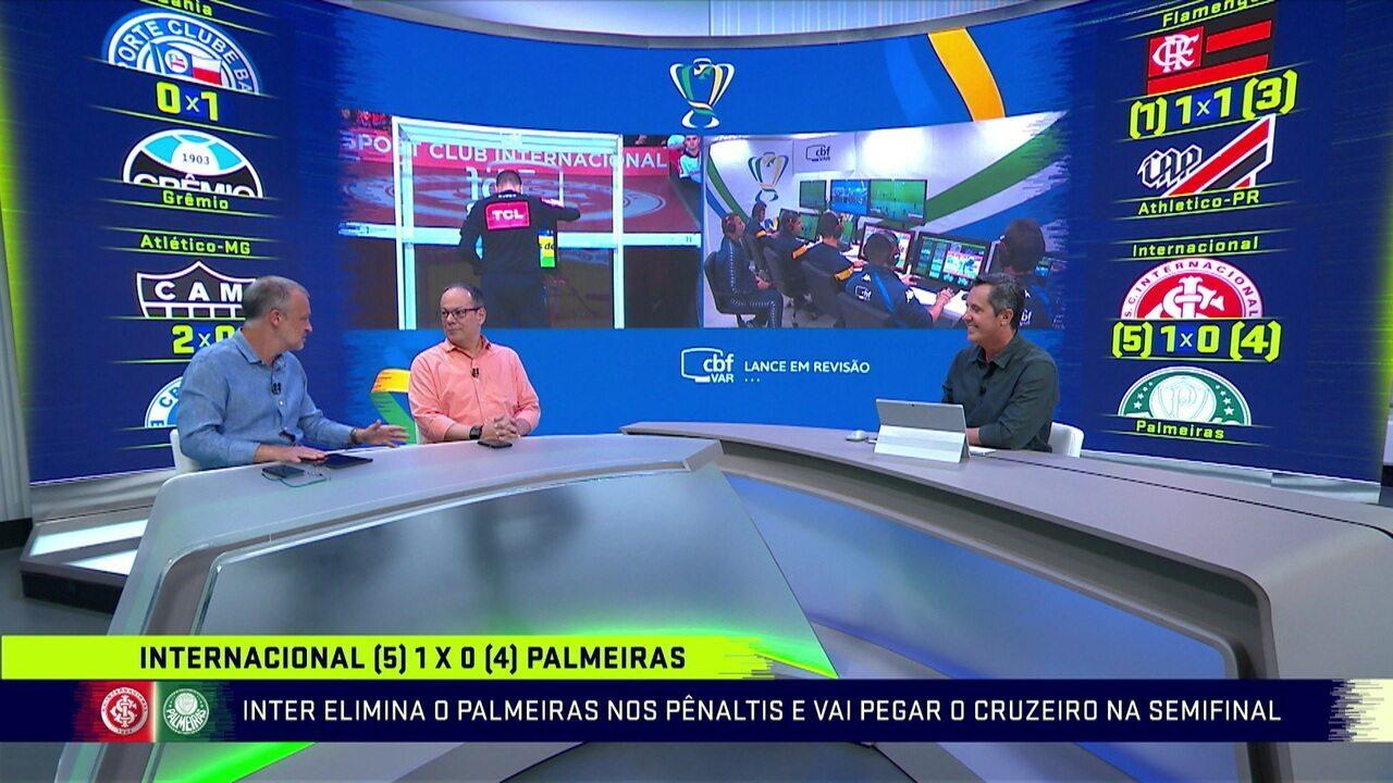 Comentaristas debatem o uso do VAR no jogo entre Internacional e Palmeiras