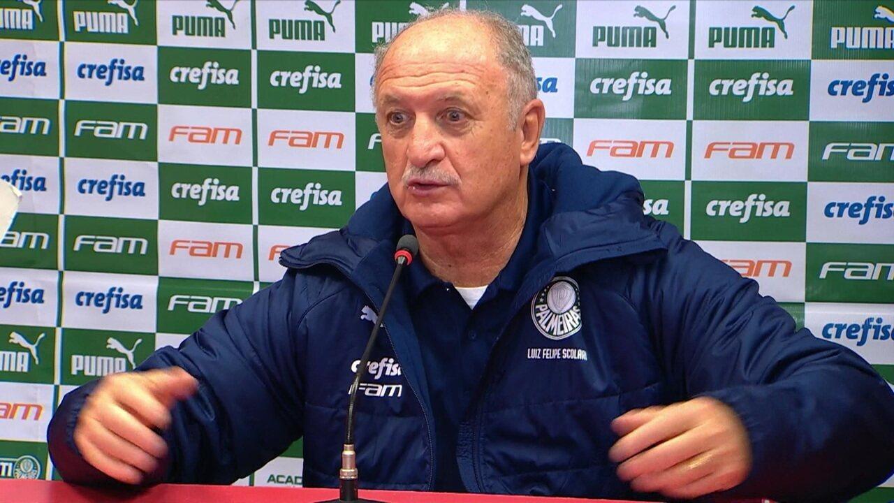 Sinal de alerta ligado? Felipão diz que nada muda no Palmeiras após eliminação
