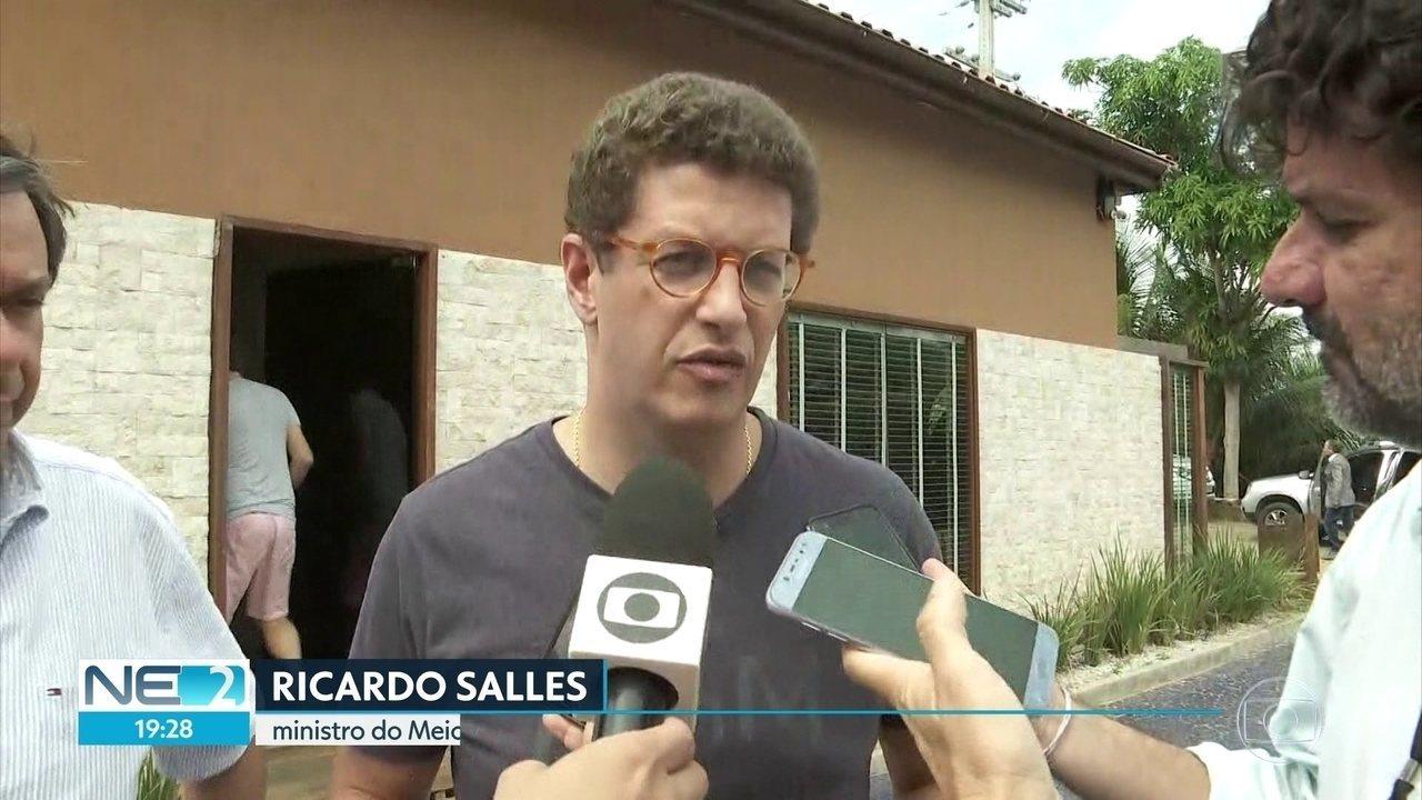 Ministro do Meio Ambiente vistoria Parque Marinho de Fernando de Noronha