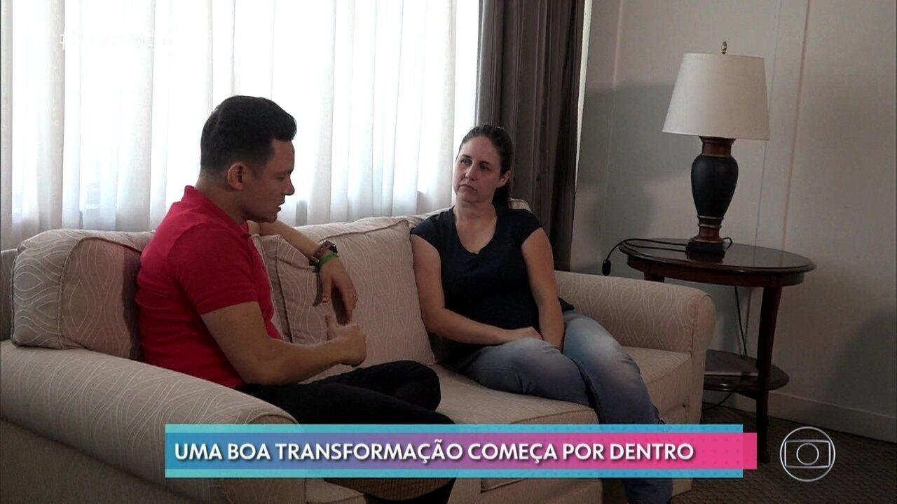 Roberta tem sessão com o coach motivacional Rodrigo Fonseca