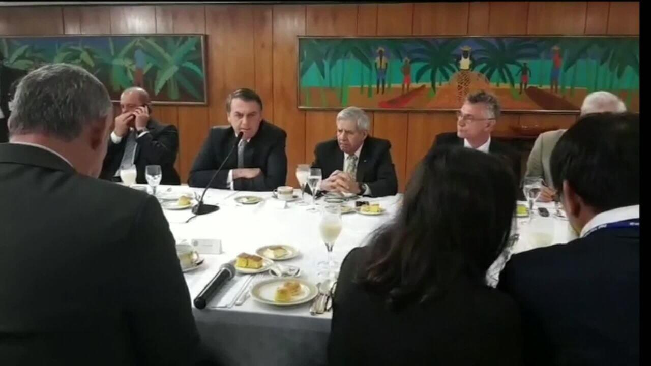 'Falar que se passa fome no Brasil é uma grande mentira', diz Bolsonaro